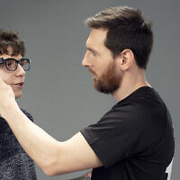 Soccer legend Lionel Messi has agreed to be the face of the company, and lead a push to improve accessibility through OrCam's devices (Courtesy)
