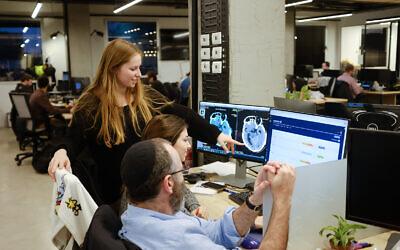 Aidoc's employees in Tel Aviv (Guy Shriber)