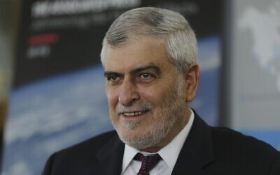 Dov Kotler, CEO of Israel's Bank Hapoalim, in Dubai, United Arab Emirates, September 9, 2020. (AP Photo/Kamran Jebreili)
