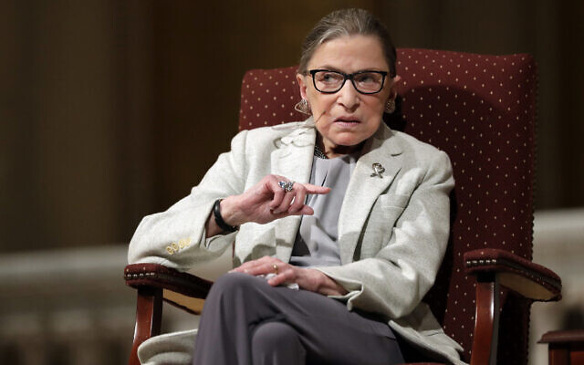 In this Feb. 6, 2017 file photo, US Supreme Court Justice Ruth Bader Ginsburg speaks at Stanford University in Stanford, California (AP Photo/Marcio Jose Sanchez, File)
