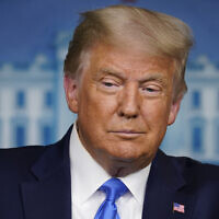 US President Donald Trump speaks during a news conference in the James Brady Press Briefing Room of the White House Wednesday, September 23, 2020, in Washington. (AP Photo/Evan Vucci)