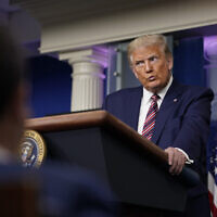 President Donald Trump pauses as he speaks during a news conference at the White House, Sunday, Sept. 27, 2020, in Washington. (AP Photo/Carolyn Kaster)