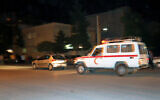 Illustrative - An ambulance is seen in the city of Shiraz, April 12, 2008 (AP Photo)