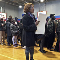 File: Voters line up inside a polling site to cast their ballots, November 8, 2016, in the Flatbush section of Brooklyn in New York (AP Photo/Bebeto Matthews)