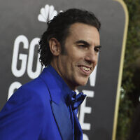 Sacha Baron Cohen arrives at the 77th annual Golden Globe Awards at the Beverly Hilton Hotel on January 5, 2020, in Beverly Hills, California (Jordan Strauss/Invision/AP)