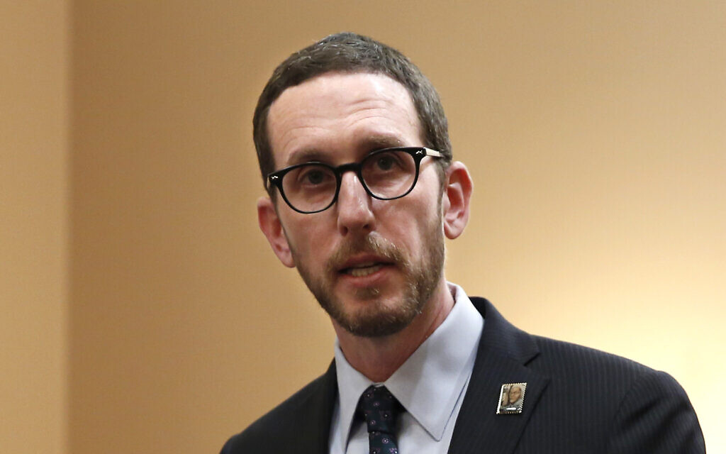 In this Jan. 21, 2020, photo, state Sen. Scott Wiener speaks at a news conference in Sacramento, California (AP Photo/Rich Pedroncelli)