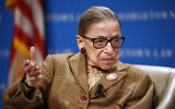 US Supreme Court Associate Justice Ruth Bader Ginsburg speaks during a discussion on the 100th anniversary of the ratification of the 19th Amendment at Georgetown University Law Center in Washington, Feb. 10, 2020. (AP Photo/Patrick Semansky)