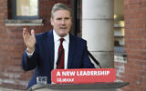 Britain's Labour leader Keir Starmer delivers his keynote speech, during the party's online conference from the Danum Gallery, Library and Museum in Doncaster, England, September 22, 2020. (Stefan Rousseau/Pool Photo via AP)