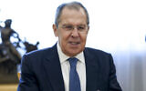 Russian Foreign Minister Sergey Lavrov in Moscow, Russia, September. 23, 2020. (Russian Foreign Ministry Press Service via AP)