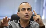 Ronni Gamzu at his office near the central Israeli city of Lod, September 24, 2020 (AP Photo/Sebastian Scheiner)