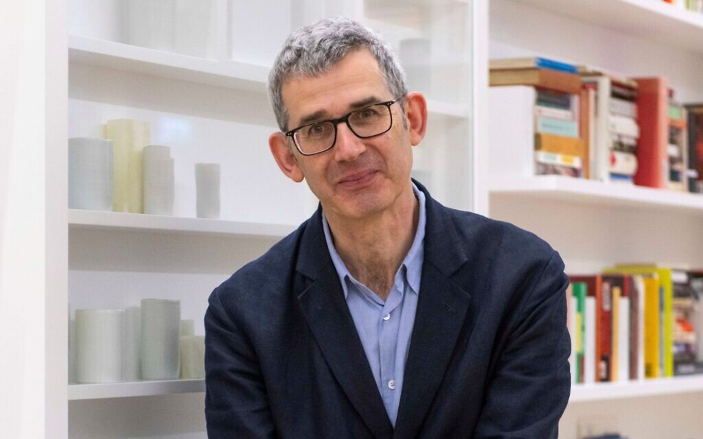 'Library of Exile' creator Edmund de Waal, at his installation at the British Museum. (Courtesy of the Trustees of the British Museum)