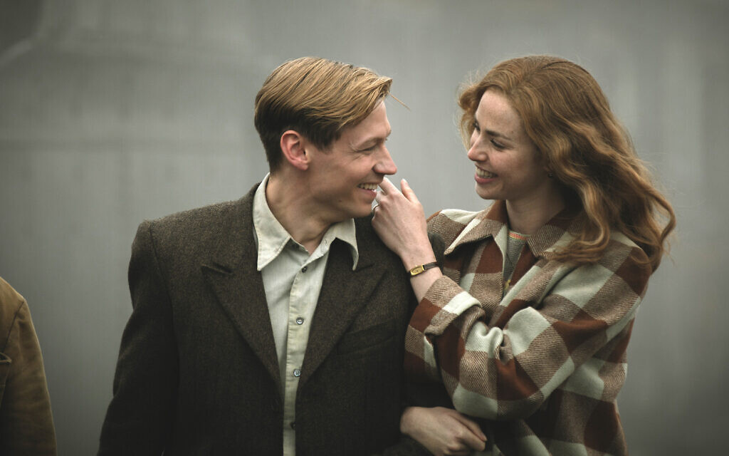 David Kross as Bert Trautmann and Freya Mavor as Margaret Trautmann in 'The Keeper' (Jürgen Olczyk/Menemsha Films)