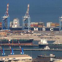 The port of Haifa. September 13, 2008. (Jorge Novominsky/Flash 90)