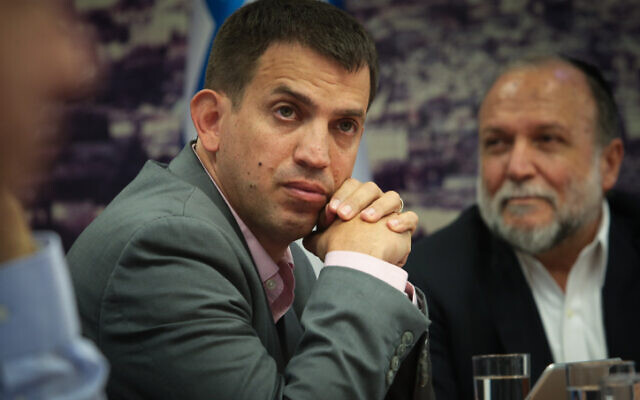 Budget director Shaul Meridor attends a press conference with at the Finance Ministry office in Jerusalem, September 23, 2019. (Flash90)