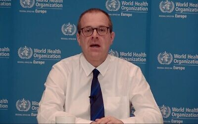 Screen capture from video of World Health Organization Europe director Hans Kluge. (YouTube)