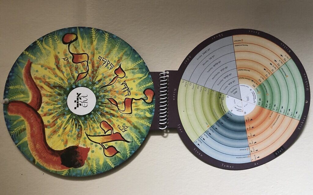 Photo of the Misaviv Hebrew Circle Calendar. (Courtesy)
