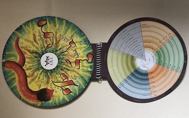 Photo of the Misaviv Hebrew Circle Calendar. (Courtesy)