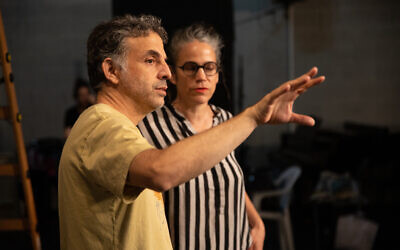 Writer Etgar Keret (left) and choreographer Inbal Pinto collaborated on the short film 'Outside,' based on his COVID-19 fairy tale written for The New York Times Magazine (Courtesy Etgar Keret)