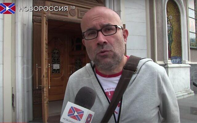 Screen capture from video of Spanish activist Miquel Puertas. (YouTube)