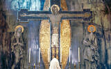 'The Crucifixion' mural in the Church of the Holy Rosary in Oldham by artist George Mayer-Marton. (Estate of George Mayer-Marton)