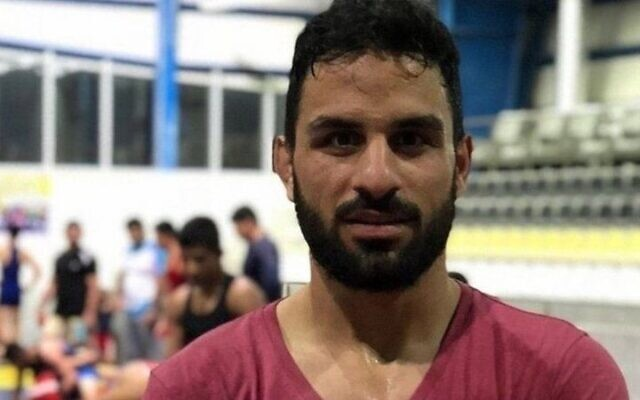 Iranian wrestler Navid Afkari (screenshot)
