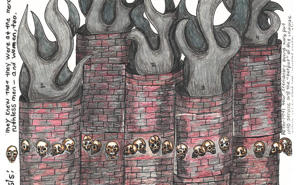 From the Nebraska Correctional Center for Women, a graphic representation of the novel 'Five Chimneys' by Olga Lengyel