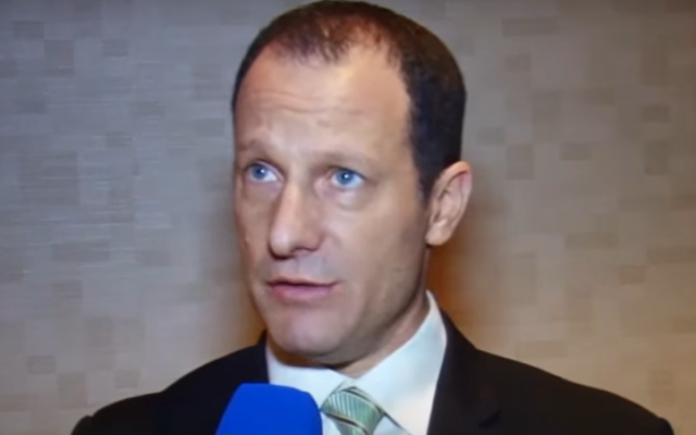 Senior adviser to the prime minister and deputy head of the national security council Reuven Azar. (Screengrab: YouTube)