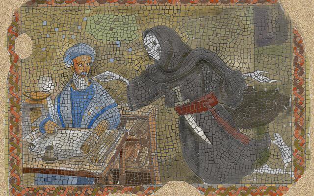 From 'The Legend of Rabbi Ben Levi,' Avi Katz's illustrated work about the Ribal based on Henry Wadsworth Longfellow's 1836 poem (Courtesy Avi Katz)