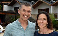 Josh and Alissa Ruxin, proprietors of Heaven Retreat as well as Heaven Restaurant & Boutique Hotel in Kigali, February 2020. (Larry Luxner/Times of Israel)