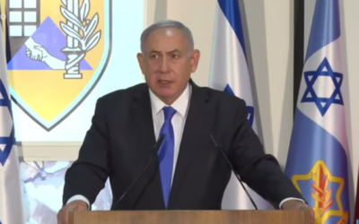 Prime Minister Benjamin Netanyahu speaks during a press conference at a military base belonging to the IDF's Home Front Command, on September 7, 2020. (Screen capture/YouTube)