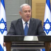 Prime Minister Benjamin Netanyahu addresses a Likud faction meeting at the Knesset on September 9, 2020. (Screen capture/Facebook)