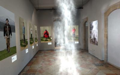 The main gallery in Jerusalem's Musrara museum, now using digital reality to display a new exhibit during the 2020 coronavirus (Courtesy Musrara)