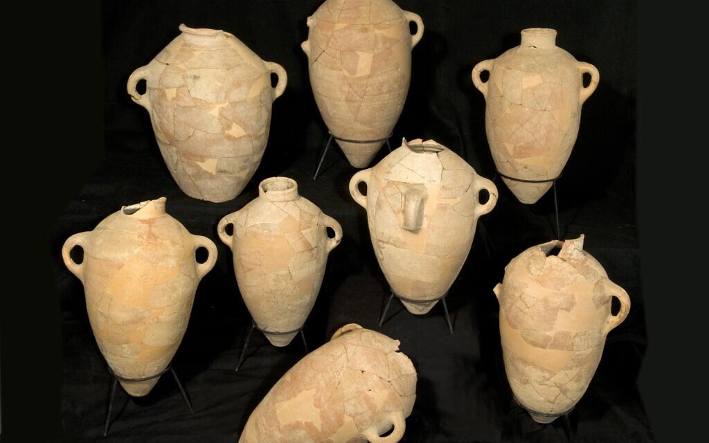Storage jars from Khirbet Qeiyafa (Clara Amit/IAA)
