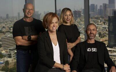 Team8's Fintech team: Yuval Tal, left to right, Rakefet Russak-Aminoach, Galia Beer-Gabel and Ronen Assia (Ron Kedmi)