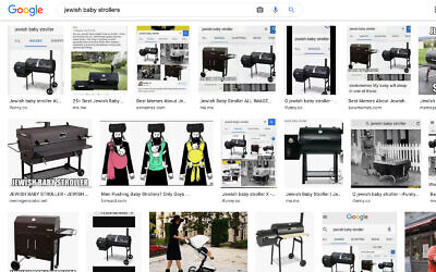 """Google Images search results for """"Jewish baby stroller"""" as of September 25, 2020. (Screenshot)"""