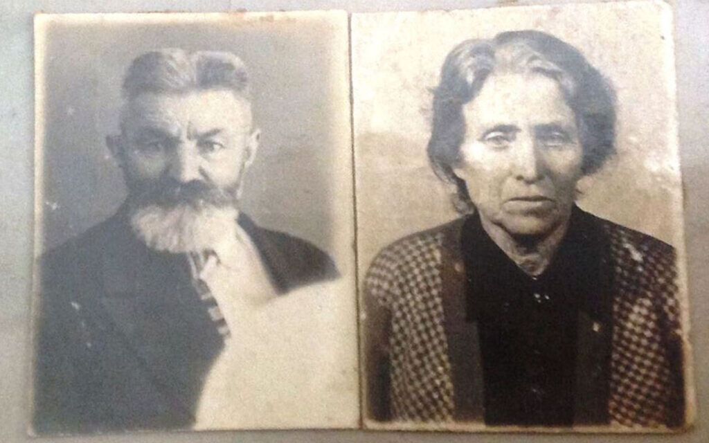Mordechai and Sheindle Sova were shot in 1941 on a central street of Kyiv, Ukraine, and buried in a ditch after they ignored the order to gather to be murdered at Babyn Yar. (Courtesy/Igor Kulakov, Babyn Yar Holocaust Memorial Center via JTA)