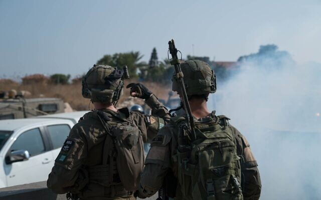 Israeli troops take part in a surprise exercise simulating a kidnapping in the West Bank in September 2020. (Israel Defense Forces)