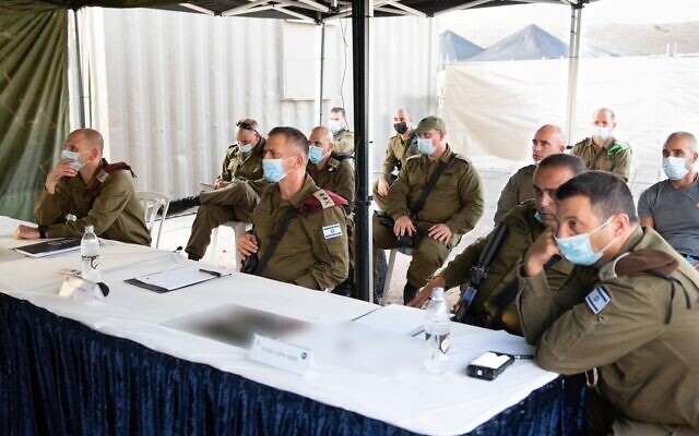 IDF Chief of Staff Aviv Kohavi visits a surprise exercise simulating a kidnapping in the West Bank in September 2020. (Israel Defense Forces)