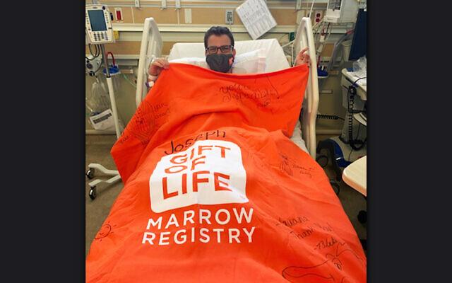 Berman Hebrew Academy Head of School Dr. Rabbi Yossi Kastan donated his bone marrow to a 2-year-old girl, undated (Courtesy of Berman Hebrew Academy via JTA)