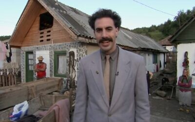 Sacha Baron Cohen in 2006's 'Borat' (screenshot)