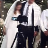 A bride who suffered a heart attack at her wedding has died at the Soroka Medical Center in southern Israel on September 9 20202 (Screencapture/Channel 13)