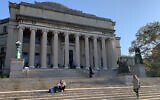 A view of Columbia University's Low Memorial Library in New York, Sept. 25, 2019 (Josefin Dolsten/via JTA)
