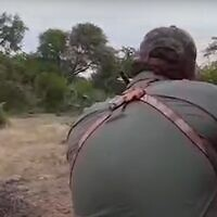 American hunter Aaron Raby shoots an elephant for sport. (Screenshot, People for the Ethical Treatment of Animals)