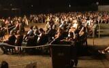 A photo of the socially distanced audience at an Idan Raichel concert in Tel Aviv September 12, 2020. (Screengrab: YouTube)