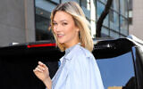 Karlie Kloss is seen on March 06, 2020 in New York City.  (Photo by Jose Perez/Bauer-Griffin/GC Images/Getty Images via JTA)