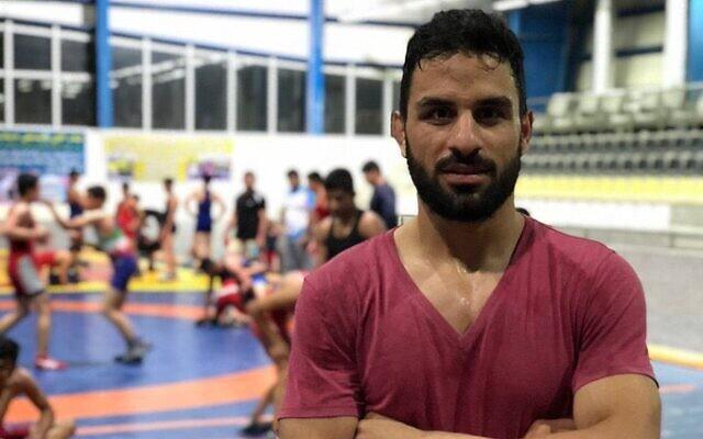 Iranian wrestler Navid Afkari. (screenshot)