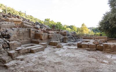Circa 400 CE Byzantine church excavated at Banias Nature Reserve. (Yaniv Cohen)