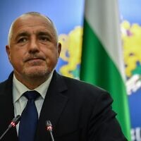 In this file photo taken on April 24, 2018, Prime Minister of Bulgaria Boyko Borissov addresses a press conference in Bucharest (Daniel MIHAILESCU / AFP)