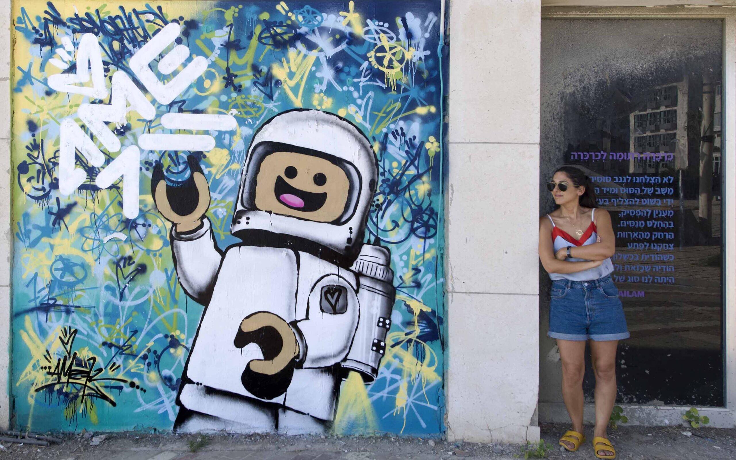 Street art in Tel Aviv by Ame 72. (Lord K2)