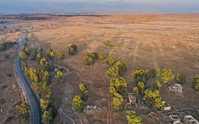 Israel Antiquities Authority excavations at Nafah in the Golan Heights (Assaf Peretz/Israel Antiquities Authority)